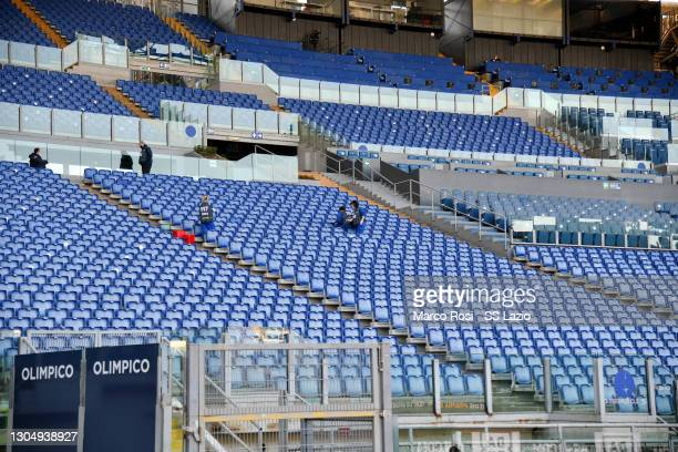 General view during the Serie A match between SS Lazio and Torino FC at Stadio Olimpico on March 02, 2021 in Rome, Italy. The match, despite it's not...