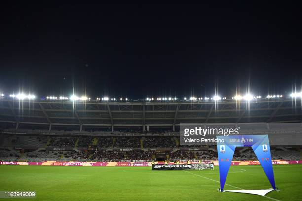 General view during the Serie A match between Torino FC and US Sassuolo at Stadio Olimpico di Torino on August 25, 2019 in Turin, Italy.