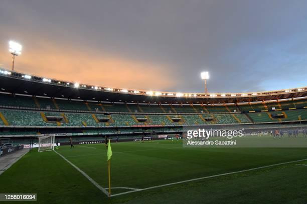 General view during the serie B match between Chievo Verona and AS Cittadella at Stadio Marcantonio Bentegodi on July 24, 2020 in Verona, Italy.