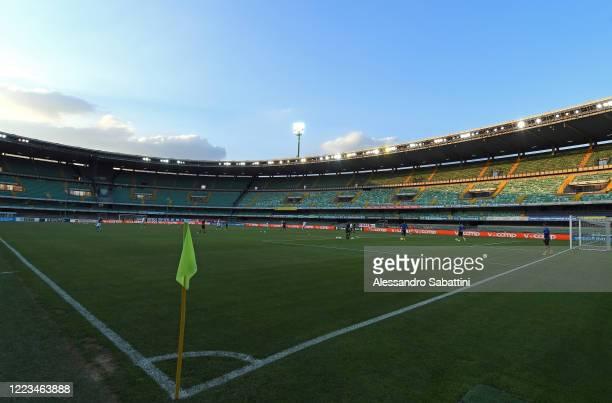 General view during the serie B match between Chievo Verona and Frosinone Calcio at Stadio Marcantonio Bentegodi on June 29, 2020 in Verona, Italy.