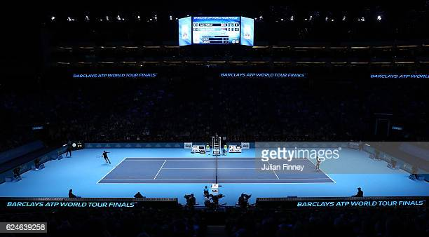 A general view during the Singles Final between Novak Djokovic of Serbia and Andy Murray of Great Britain at the O2 Arena on November 20 2016 in...