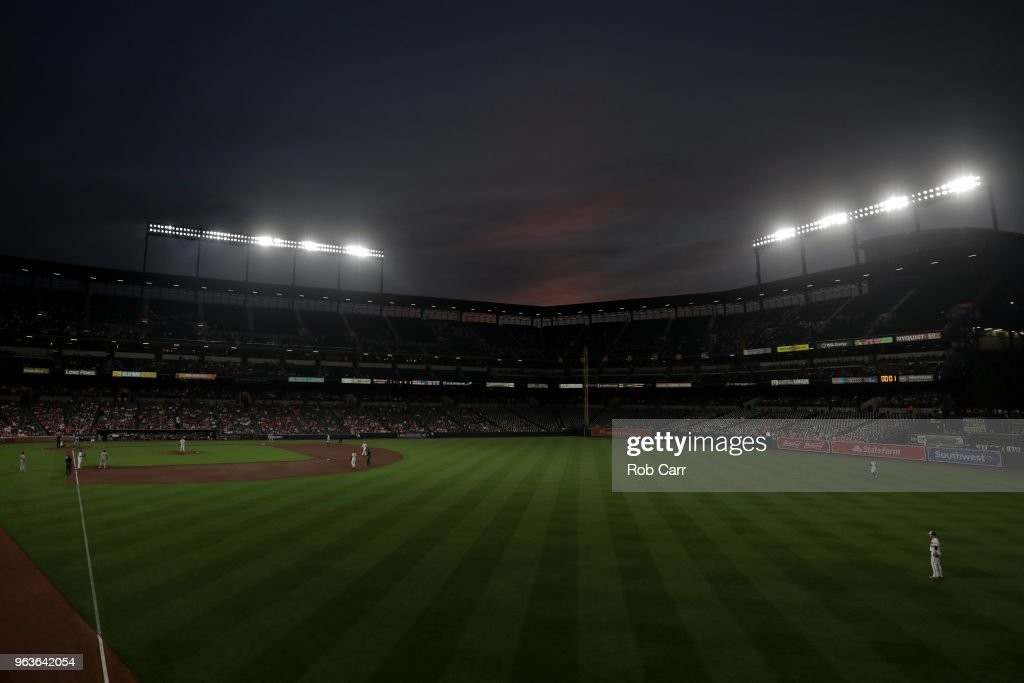 A general view during the sixth inning of the Washington Nationals and Baltimore Orioles game at Oriole Park at Camden Yards on May 29, 2018 in Baltimore, Maryland.