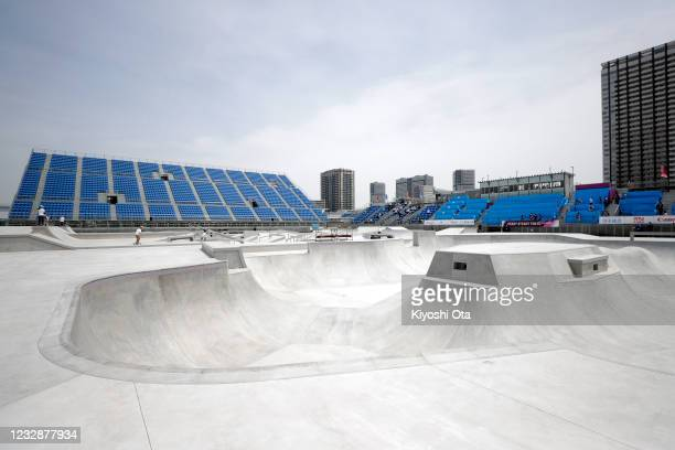 General view during the Skateboarding Olympic Test Event at the Ariake Urban Sports Park on May 14, 2021 in Tokyo, Japan.