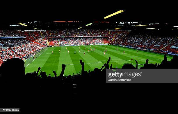 A general view during the Sky Bet Championship match between Charlton Athletic and Burnley on May 7 2016 in London United Kingdom