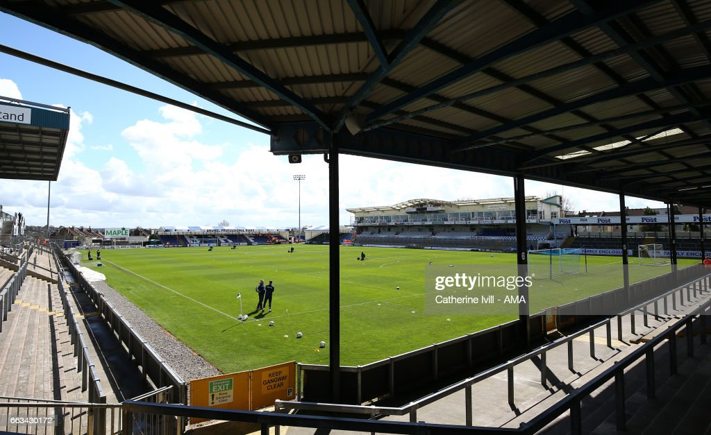 General view during the Sky Bet League One match between Bristol Rovers and Shrewsbury Town at Memorial Stadium on April 1, 2017 in Bristol, England.