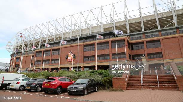 A general view during the Sky Bet League One match between Sunderland and Scunthorpe United at Stadium of Light on August 19 2018 in Sunderland...