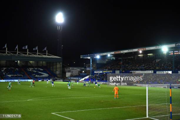 A general view during the Sky Bet League Two match between Oldham Athletic and Yeovil Town at Boundary Park on February 12 2019 in Oldham United...