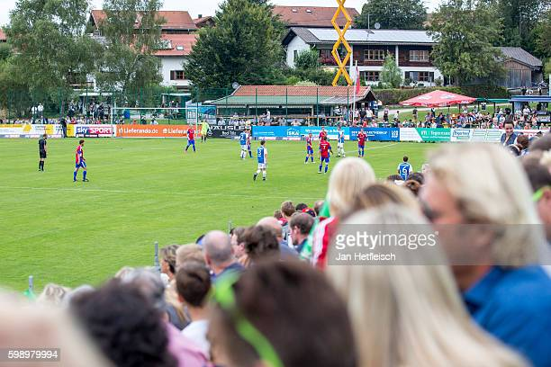 A general view during the SKY Spiel des Lebens between the SC Reichersbeuern and SV Wackersbergon September 03 2016 in Bad Toelz Germany