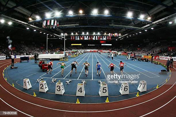 General view during the Sparkassen Cup 2008 at the Hanns-Martin Schleyer Hall on February 2, 2008 in Stuttgart, Germany.