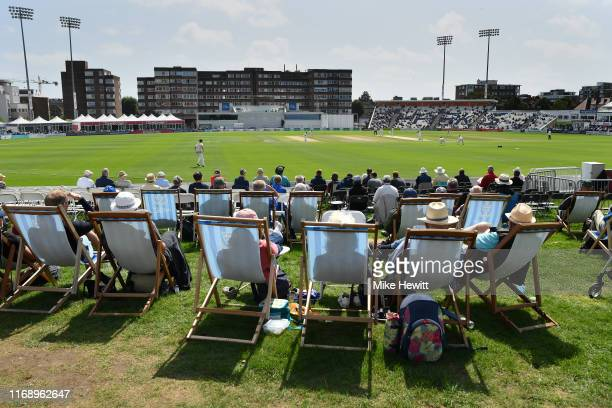 General view during the Specsavers County Championship: Division Two match between Sussex and Middlesex at The 1st Central County Ground on August...