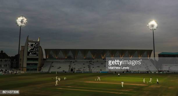 A general view during the Specsavers County Championship Division Two match between Nottinghamshire and Kent at Trent Bridge on June 26 2017 in...