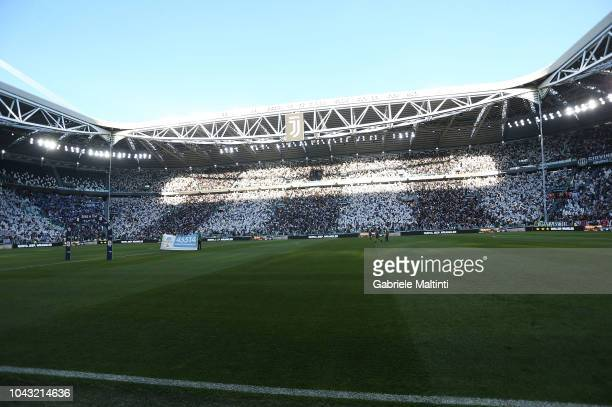 General view during the Srie A match between Juventus and SSC Napoli at Allianz Stadium on September 29 2018 in Turin Italy