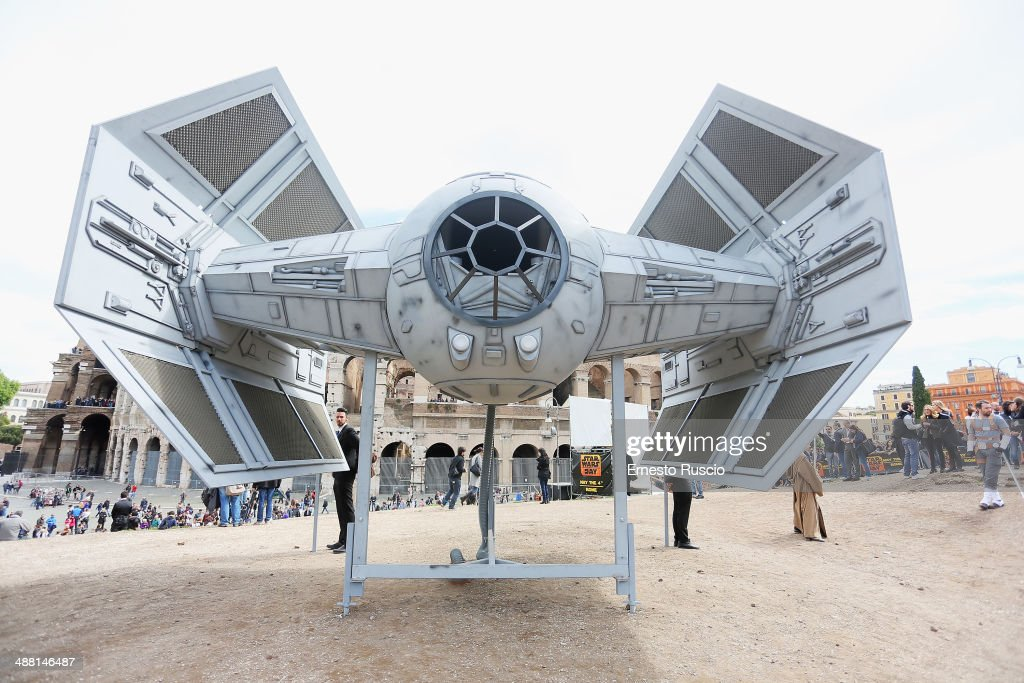 General view during the Star Wars Day 2014 at Colloseo on May 4, 2014 in Rome, Italy.