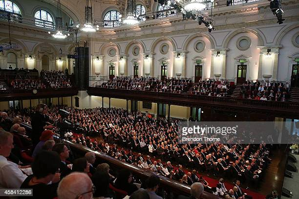 A general view during the state memorial service for former Australian Prime Minister Gough Whitlam at Sydney Town Hall on November 5 2014 in Sydney...