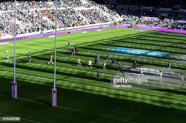 A general view during the Super League match between St Helens and Warrington Wolves at St James' Park on May 31 2015 in Newcastle upon Tyne England