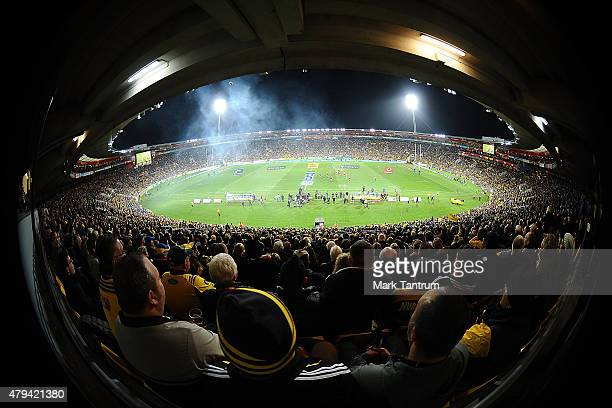 General view during the Super Rugby Final match between the Hurricanes and the Highlanders at Westpac Stadium on July 4 2015 in Wellington New Zealand