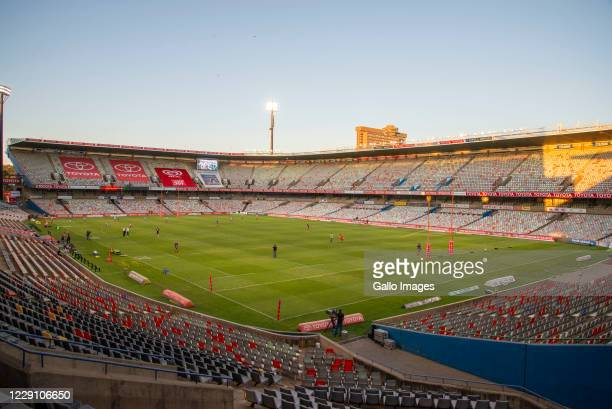General view during the Super Rugby Unlocked match between the Toyota Cheetahs and Vodacom Bulls at Toyota Stadium on October 16 2020 in Bloemfontein...
