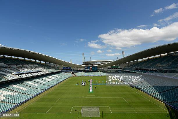 A general view during the Sydney FC 10 Year Anniversary Lunch at Allianz Stadium on March 16 2015 in Sydney Australia