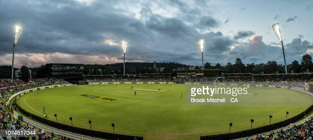 A general view during the Sydney Thunder v Melbourne Stars Big Bash League Match at Manuka Oval on December 21 2018 in Canberra Australia