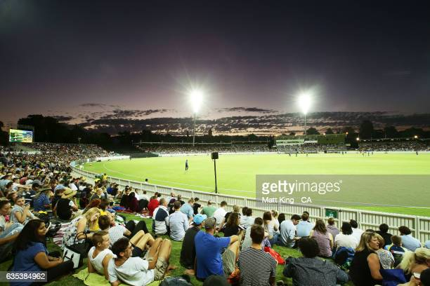 A general view during the T20 warm up match between the Australian PM's XI and Sri Lanka at Manuka Oval on February 15 2017 in Canberra Australia
