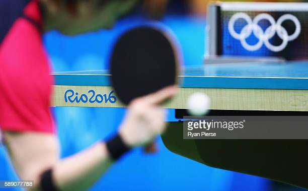 General view during the Table Tennis Women's Team Quarter Final Match between Singapore and Republic of Korea during Day 8 of the Rio 2016 Olympic...