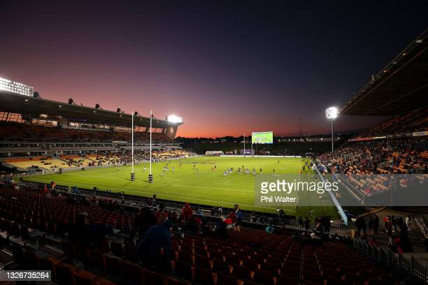 General view during the Test match between the Maori All Blacks and Manu Samoa at Mt Smart Stadium on July 03, 2021 in Auckland, New Zealand.