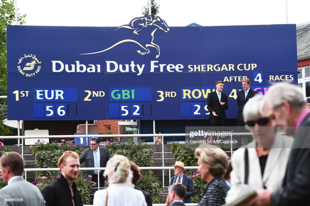 A general view during the The Dubai Duty Free Shergar Cup at Ascot Racecourse on August 12, 2017 in Ascot, England.