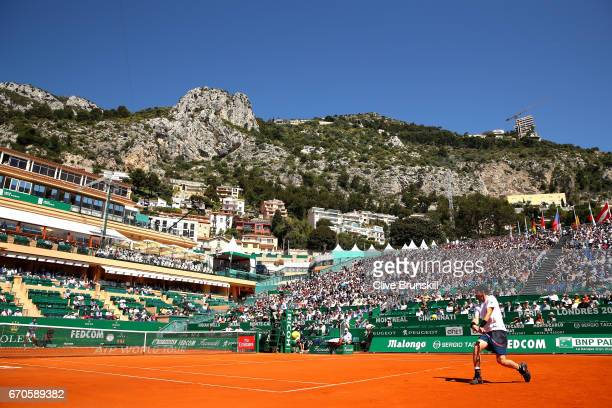 A general view during the third round match between Andy Murray of Great Britain and Albert RamosVinolas of Spain on day 5 of the Monte Carlo Rolex...