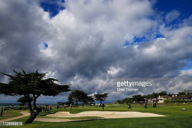 A general view during the third round of the ATT Pebble Beach ProAm at Monterey Peninsula Country Club Shore Course on February 09 2019 in Pebble...