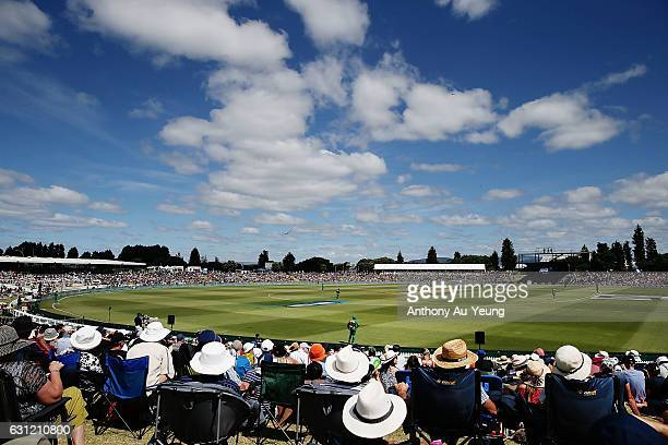 General view during the third Twenty20 International match between New Zealand and Bangladesh at Bay Oval on January 8 2017 in Mount Maunganui New...