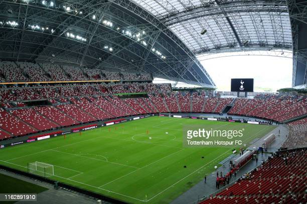 A general view during the Tottenham Hotspur official training/press conference at the Singapore National Stadium on July 19 2019 in Singapore