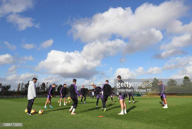 General view during the Tottenham Hotspur training session at Tottenham Hotspur Training Centre on November 8 2018 in Enfield England