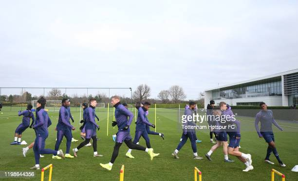 General view during the Tottenham Hotspur training session at Tottenham Hotspur Training Centre on January 10 2020 in Enfield England