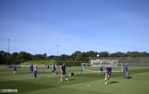 A general view during the Tottenham Hotspur training session at Tottenham Hotspur Training Centre on May 28 2020 in Enfield England