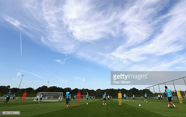 A general view during the Tottenham Hotspur training session at Tottenham Hotspur training centre on September 13 2016 in Enfield England