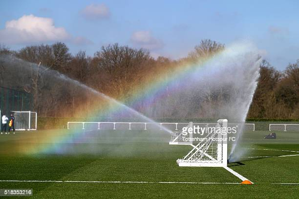 A general view during the Tottenham Hotspur training session on March 31 2016 in Enfield England