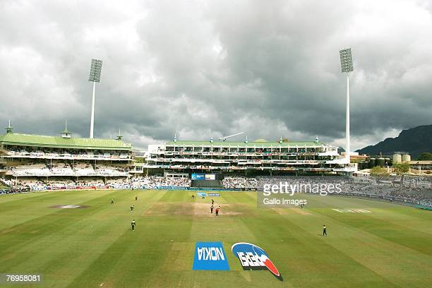 A general view during the Twenty20 Cup Semi Final match between New Zealand and Pakistan at Newlands Cricket Ground on September 22 2007 in Cape Town...
