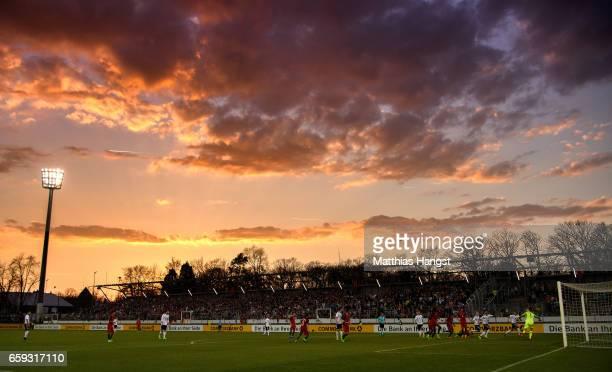 A general view during the U21 International Friendly match between Germany U21 and Portugal U21 at GaziStadion auf der Waldau on March 28 2017 in...