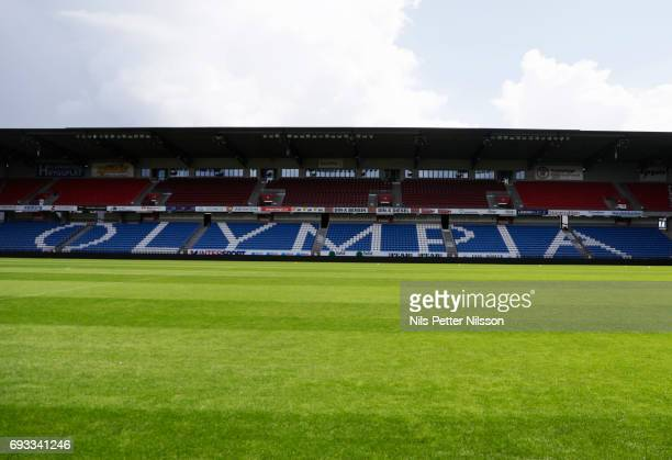 General view during the U21 national team training session at Olympia on June 7 2017 in Helsingborg Sweden