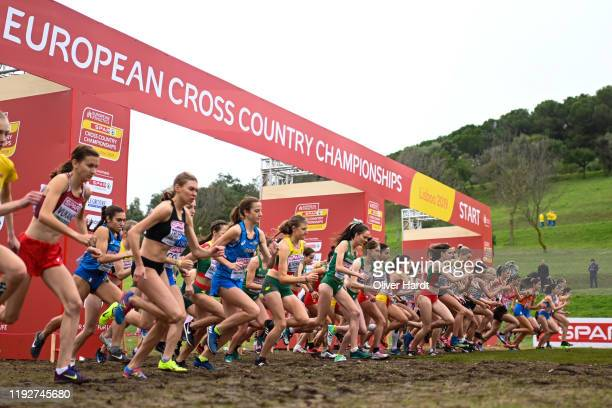 A general view during the U23 Women race of the SPAR European Cross Country Championships at the Parque da Bela Vista on December 08 2019 in Lisbon...