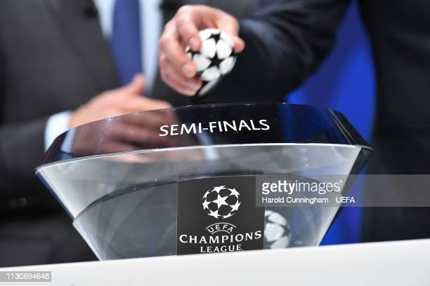 A general view during the UEFA Champions League 2018/19 Quarterfinal Semifinal and Final draws at the UEFA headquarters The House of European...