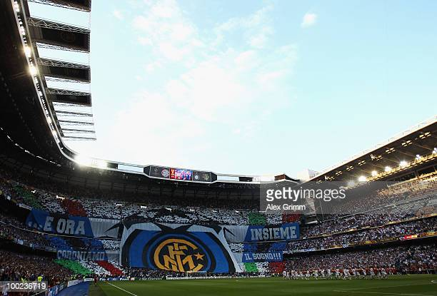 A general view during the UEFA Champions League Final match between FC Bayern Muenchen and Inter Milan at the Estadio Santiago Bernabeu on May 22...