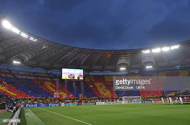 General View during The UEFA Champions League Final match between FC Barcelona and Manchester United at the Stadio Olimpico on May 27 2009 in Rome...