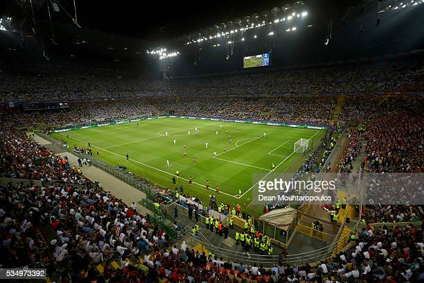 A general view during the UEFA Champions League Final match between Real Madrid and Club Atletico de Madrid at Stadio Giuseppe Meazza on May 28 2016...