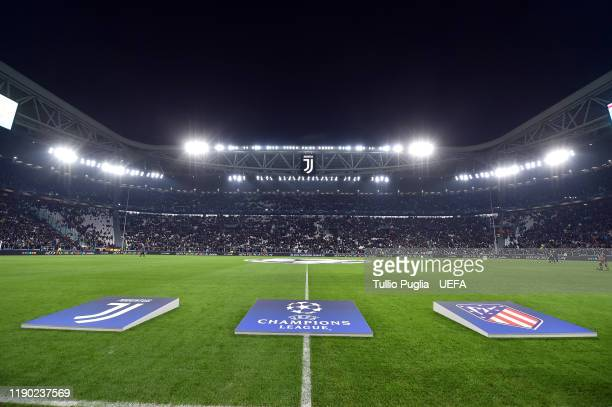 General view during the UEFA Champions League group D match between Juventus and Atletico Madrid at Allianz Stadium on November 26, 2019 in Turin,...