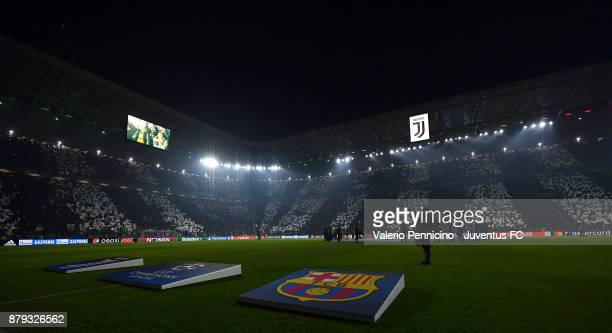 A general view during the UEFA Champions League group D match between Juventus and FC Barcelona at Allianz Stadium on November 22 2017 in Turin Italy