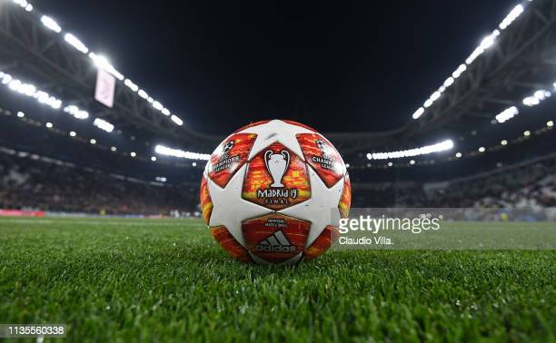 A general view during the UEFA Champions League Round of 16 Second Leg match between Juventus and Club de Atletico Madrid at Allianz Stadium on March...