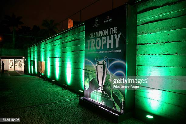 A general view during the UEFA Champions League Trophy Tour 2016 presented by Heineken on March 31 2016 in Sao Paulo Brazil