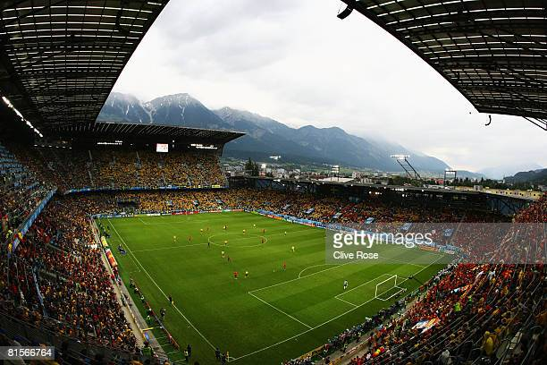 A general view during the UEFA EURO 2008 Group D match between Sweden and Spain at Stadion Tivoli Neu on June 14 2008 in Innsbruck Austria