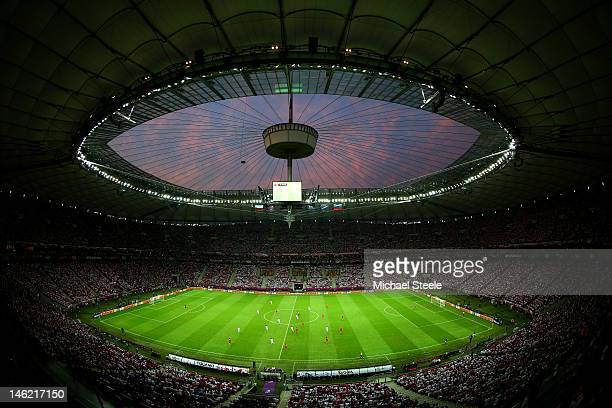 A general view during the UEFA EURO 2012 group A match between Poland and Russia at The National Stadium on June 12 2012 in Warsaw Poland
